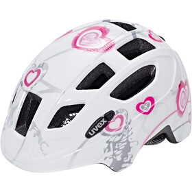UVEX Finale Helmet LED Kinder heart white pink